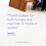 We like this optimist outlook about man + human in the workforce. Thanks for the comments! #maketechhuman http://t.co/7xWH7Oyifq