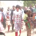 Priyanka Gandhi meets and interacts with villagers in Sareni, Raebareli (UP) http://t.co/UEh7BkpXZS