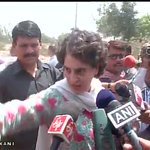 Reporter: Has condition of farmers improved in last year? Priyanka Gandhi: Look around you and you shall see the ans. http://t.co/a8qPe6suFr