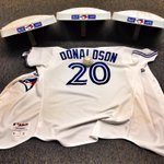 .@BringerOfRain20s HR ball, jersey and the bases he rounded from his walk-off three run homer @BlueJays http://t.co/kBIHp8NkTY
