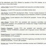 US @TheJusticeDept releases names of 9 #Fifa officials indicted in World Cup corruption probes http://t.co/l412gyQmo4 http://t.co/rloxHGGSg2