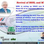 In last one year we have made serious efforts to revive the #BSNL and #MTNL. #SaalEkShuruaatAnek http://t.co/lexilFkCWv