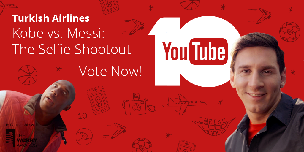 Our Kobe vs. Messi: The Selfie Shootout ad is waiting for your votes! Show your support at