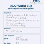 SUMMARY: How the 2022 FIFA World Cup was awarded to Qatar. http://t.co/QVzwkLSBe4