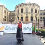 We are outside parliament and telling our politicians to #DivestNorway and #endcoal right now! http://t.co/dS8HzQCBMc