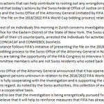 THIS JUST IN: FIFA releases statement on criminal investigation related to the 2018 & 2022 World Cups. http://t.co/iuumyj40JH