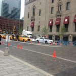 #SuicideSquad is filming in front of the Royal York this morning. http://t.co/3bMfusm7s7 http://t.co/HsjbCvLopv