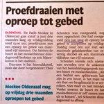 Moskee Oldenzaal mocht van burgemeester wel 10 jaar (!) Islamitische oproepen via de speakers op straat knallen. http://t.co/GxkMNb4CzS