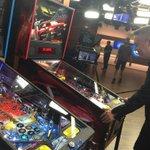 .@barenakedladies Ed Robertson loving the pinball machines from The Playdium Store! http://t.co/4VbXCvgFZ9 #BNLonBT http://t.co/qQW1U6NEx1