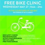 .@DowntownYonge is launching their free bike clinic series today at 11am! #Toronto #bikeTO http://t.co/JA8pXEi22u