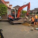 De werkzaamheden aan de #Karstraat vorderen gestaag. Complimenten aan @DenOudenGroep voor de goede samenwerking! http://t.co/k8b1lyzbiz