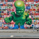 "Artist @ronenglishart ""All American Temper Tot"" on Bowery Wall #seacoast #NYC #streetart @yourtake @NYCDailyPics @NYC http://t.co/miUFUSQ3Qw"