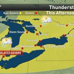UPDATED: Thunderstorm WARNING in #Windsor, t-storm watches elsewhere, incl #Toronto: http://t.co/MIQh3J0NrY #onstorm http://t.co/uHSMNagxTC