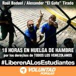 .@elgatodearagua @RBADUEL se aproximan a las 24 hs en huelga de hambre ¡Su lucha es nuestra lucha! #30MVamosTodos http://t.co/jpChrPl0Wq