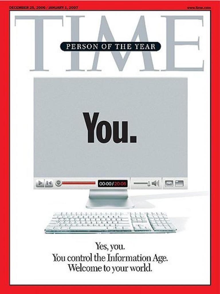 """Dos décadas resumidas en dos portadas de @TIME. Del """"Tú"""" en 2000s al """"Yo"""" en 2010s. http://t.co/e1AumnPIZ5"""