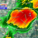 The storm that just pushed through Bono is producing pea sized hail. #arwx http://t.co/YOIL32Jcj3