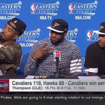 J.R. Smith decided to take a selfie right in the middle of a press conference: http://t.co/0XbjrvRo9h http://t.co/VRugOjwt1S