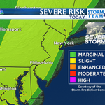Severe storms likely across parts of #NYC tri-state area this PM/early evening. Especially from #NYC & points west! http://t.co/ILqx1clWhQ