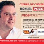Nos vemos este viernes gran cierre de campaña con los amigos del VI distrito @Manuel_Pozo y @PanchoPerezR invitan. http://t.co/0CgZruDLi1