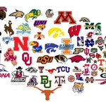 The United States of College Football. Only 100 days til the return of college football. Merica. http://t.co/kJqwl93FPq