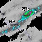Radar estimates over 2 inches of rain has fallen in Brookland in a short amount of time. Flash flooding is possible http://t.co/1JUIbFQUqD