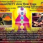Free Yoga at Mesa Urban Garden, 212 E. 1st Ave, tonight at 8pm! http://t.co/2jggKf21dn