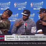 JR Smith interrupted Game 4s post-game presser to take a selfie and shout out his IG VIDEO: http://t.co/rrhbH9rNvS http://t.co/NPgaqFcNwJ