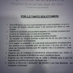 Junta Directiva del Hospital San Juan de Dios pide renuncia del ministro de Salud, Luis Enrique Monterroso. http://t.co/Q800FcCwUr