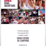 #NuevaActitud Acompañemos al candidato @RLoyolaVera al CIERRE DE CAMPAÑA el próximo domingo a las 12:00PM en @QCCmx http://t.co/nT9N7m2Jvb