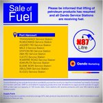Looking for fuel in Port Harcourt ? We have optimized fuel delivery at the following retail stations. #PMS #PH #oando http://t.co/kxq2vX4K37