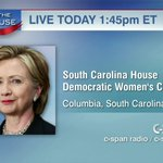 .@HillaryClinton in Columbia, South Carolina – LIVE at 1:45pm ET on C-SPAN http://t.co/Zgzsc3mxIi #HillaryInSC http://t.co/HZ2OJzJpjD