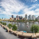 You dont even have to be in the seats to have a beautiful view of #Pittsburgh from PNC Park (10 image pano here) http://t.co/sDnFFsFgQO