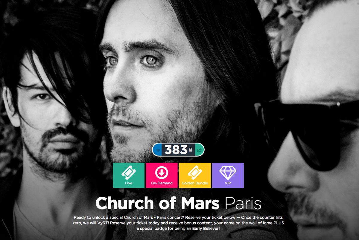 RT @30SECONDSTOMARS: Can we hit 0 today?! Event info unlocked AND 1 lucky winner gets a call from @JaredLeto! → http://t.co/Xd1V55SYCX http…