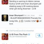 .@LILBTHEBASEDGOD has spoken. Hes rooting for the @cavs. http://t.co/LKOxjBMLGu