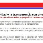 .@fepafut se pronuncia en torno a situación actual del fútbol mundial. Aquí el comunicado del ente federado. http://t.co/fVb4txXlC8