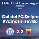 Gol del @fcdnipro, Rotan de falta directa en el 43 de partido. FC Dnipro 2-2 #SevillaFC #vamosmisevilla #AporlaCuarta http://t.co/sDKLP2DJrd