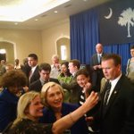 .@HillaryClinton taking photos with SC dems (and ignoring press questions) a few min ago in Columbia http://t.co/jMrDLolzM4