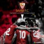 El @SevillaFC se proclama campeón de la #EuropaLeague por cuarta vez ¡ENHORABUENA CAMPEONES! http://t.co/Q6qLTGJXnv