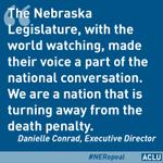 Nebraska has made history. #neleg #nerepeal #deathpenalty http://t.co/f2h10e9YdP http://t.co/Q66lB5vzR2
