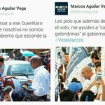 Apoyando propuestas d nuestro proximo presidente de #Queretaro @MarcosAguilar #YoVotoMarcos @MishioG http://t.co/02Wd0x3mOq