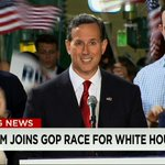 JUST IN: Rick Santorum officially announces his run for president. Watch live: http://t.co/wJSgobnXF1 http://t.co/Dt9116gRe9