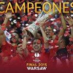 Una vez más, enhorabuena al @SevillaFC por su cuarto título de la Copa de la UEFA/Europa League. #UELfinal http://t.co/YuzhqC1Xhq