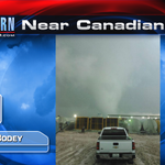 Tornado near Canadian, TX that later hit an oil rig causing 3 injuries. #TXWX #OKWX @kfor @emilyrsutton http://t.co/w1QmstnimF