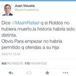 Admiración x Jaime Roldós sigue intacta y el apoyo a su primogénita @martharoldos ante ofensas de @MashiRafael total http://t.co/DcM3qh2Va7