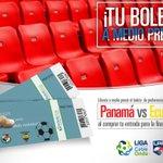 Al comprar tu boleto Pref. Este de la final de la @LPFpanama lleva un boleto Pref. Este para PAN-ECU a 1/2 precio. http://t.co/K4m86hRjmR