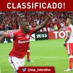 FIM DE JOGO!!! @SCInternacional está classificado após vencer o @SantaFe por 2x0!!! Comemora, torcedor colorado! http://t.co/GV3uP0SrNH