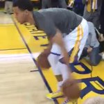 Steph looks just fine warming up for #warriors game 5 vs Rockets http://t.co/BMBFIRGtjo