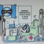 EXCLUSIVO: Torcedores do grêmio da noite de hoje assistindo o jogo COLORADO. http://t.co/k0N2d8Qz7D