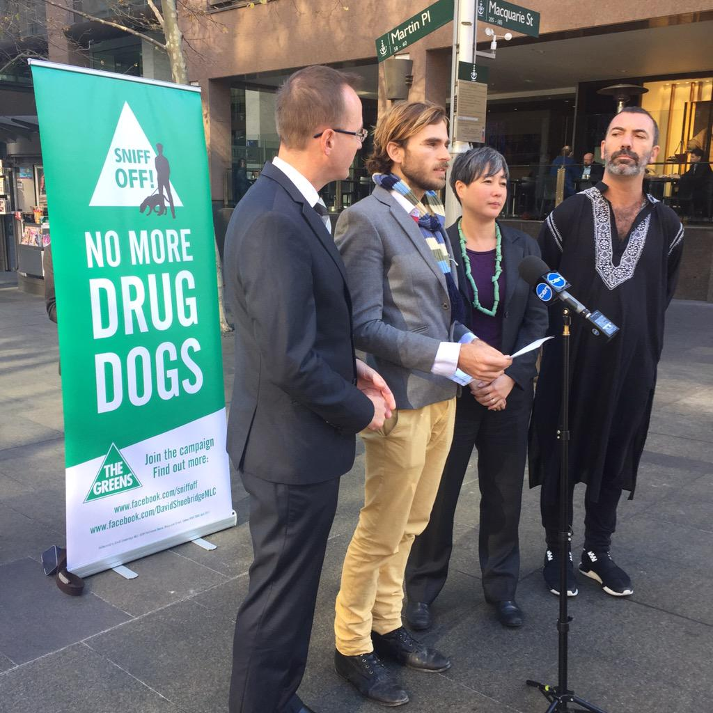 Dan speaking at the launch of a bill to end sniffer dog use in NSW. #sniffoff @ShoebridgeMLC @jennyleong @thepaulmac http://t.co/Cw9LI6lejt