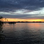 Beautiful pic of Sunset on the Mississippi River from the Fly in Uptown. Best time of day in Nola http://t.co/GMrsRC1O4n